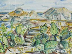 Landschaft mit Opuntien